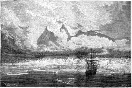 氷河針とコルベットの濡れ。ビンテージの刻まれたイラスト。ル ツアー デュ モンド、トラベル ジャーナル (1865 年)。