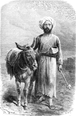 Armin Vambery or Arminius Vambery or Hermann Bamberger or Bamberger Armin. vintage engraved illustration. Le Tour du Monde, Travel Journal, (1865). illustration