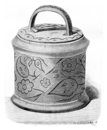 bushel: Bushel of Solovetsky monastery, vintage engraved illustration. Le Tour du Monde, Travel Journal, (1872). Stock Photo