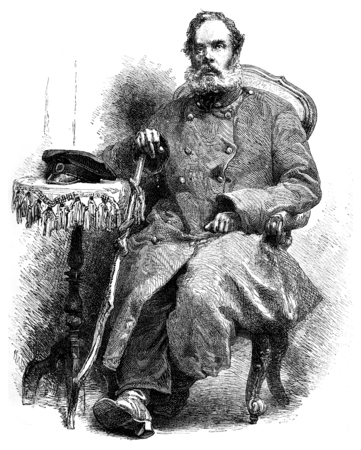 nicolas: The mysterious prisoner Solovetsky, Nicolas Ilyin, vintage engraved illustration. Le Tour du Monde, Travel Journal, (1872). Stock Photo