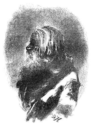 old man portrait: Old peasant Estonian, vintage engraved illustration. Le Tour du Monde, Travel Journal, (1865).