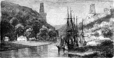 bristol: View of the Avon, Bristol, vintage engraved illustration. Le Tour du Monde, Travel Journal, (1865).
