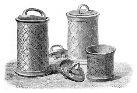 bushel: Bushel of Solovetsky monastery. vintage engraved illustration. Le Tour du Monde, Travel Journal, (1872).