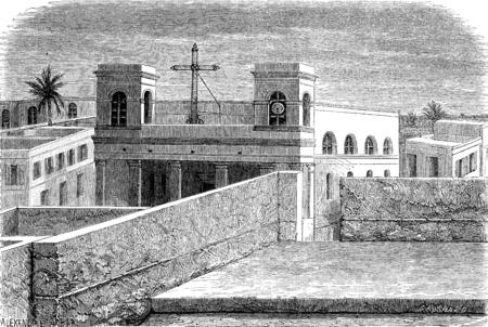 Cathedral of St. Louis, vintage engraved illustration. Le Tour du Monde, Travel Journal, (1872).