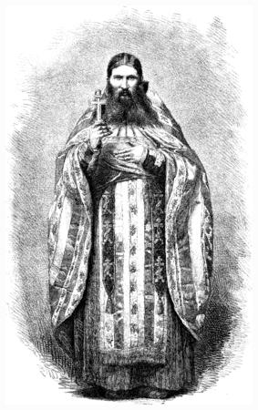 pope: Russian Pope, vintage engraved illustration. Le Tour du Monde, Travel Journal, (1872). Stock Photo