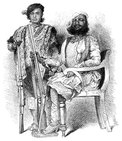 nobles: Nobles Dholepore, vintage engraved illustration. Le Tour du Monde, Travel Journal, (1872). Stock Photo