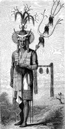 Native Timor, vintage engraved illustration. Le Tour du Monde, Travel Journal, (1872). illustration