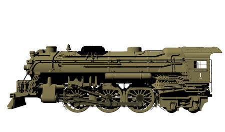 3d render of a train Illustration Banco de Imagens