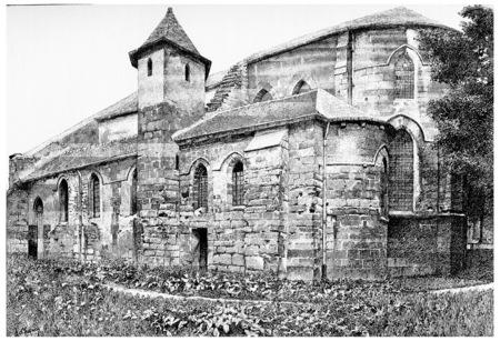 former: Former Church of Saint-Julien-le-poor, vintage engraved illustration. Paris - Auguste VITU – 1890. Stock Photo