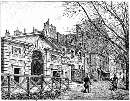 boulevard: The hospital on the Boulevard of Port Royal, vintage engraved illustration. Paris - Auguste VITU – 1890.