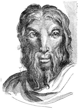 Goat, vintage engraved illustration.  Фото со стока