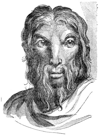 resemblance: Goat, vintage engraved illustration.  Stock Photo