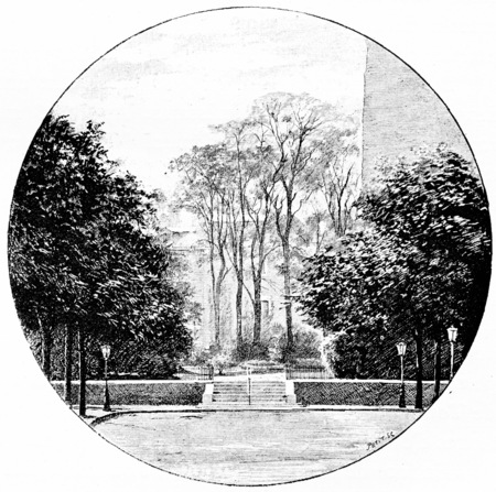 boulevard: The opening of the new boulevard Raspail along the boulevard Saint-Germain, vintage engraved illustration. Paris - Auguste VITU – 1890.
