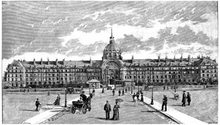 residence: The National Residence of the Invalids, vintage engraved illustration. Paris - Auguste VITU – 1890.