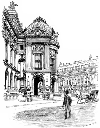 The flag of the east, vintage engraved illustration. Paris - Auguste VITU – 1890. illustration