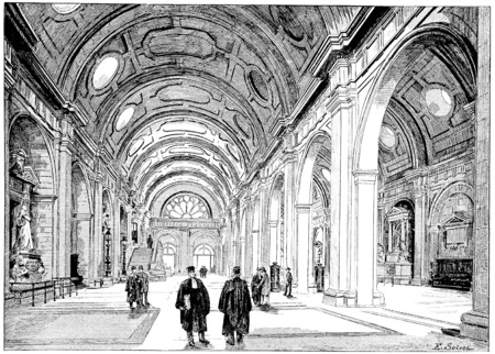 concourse: Concourse, vintage engraved illustration. Paris - Auguste VITU – 1890.