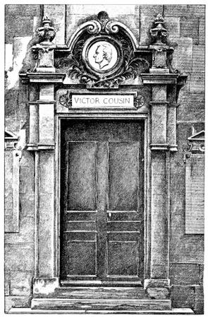 cousin: Victor Cousin door, vintage engraved illustration. Paris - Auguste VITU – 1890. Stock Photo