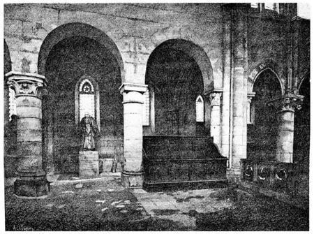 tumbas: Interior de Saint-Julien-le-Pauvre: La tumba del señor Montyon.