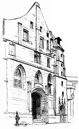 abbey: Dupuytren Museum, vintage engraved illustration. Paris - Auguste VITU – 1890. Stock Photo
