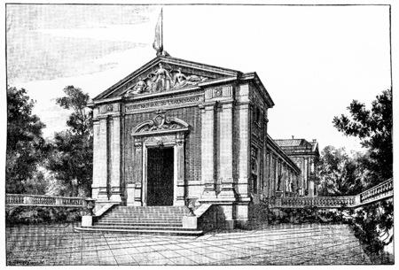 ルクセンブルクの新しい博物館、ヴィンテージには、図が刻まれています。パリ - オーギュスト ・ ヴィトゥ â €1890。