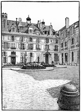 abbey: Abbey of the Woods, vintage engraved illustration. Paris - Auguste VITU – 1890.