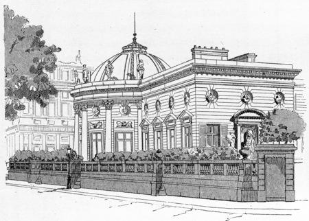 honour: Facade of the Palace of the Legion of Honour on the Quai dOrsay, vintage engraved illustration. Paris - Auguste VITU – 1890.