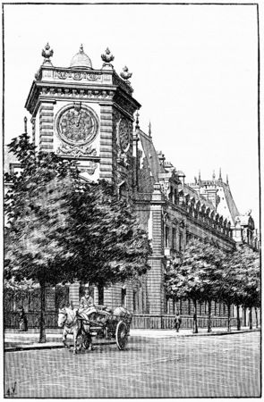ministry: The Ministry of War, vintage engraved illustration. Paris - Auguste VITU – 1890. Stock Photo