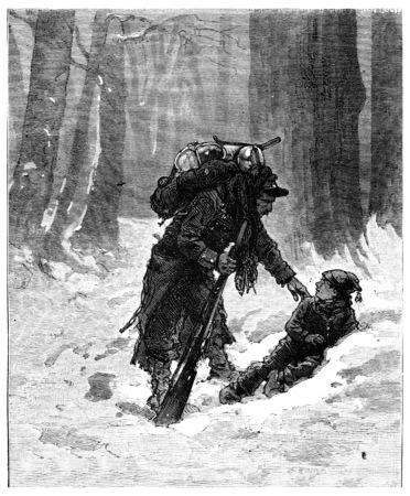 brat: The Tour de France a small Parisian, What are you doing here, brat?, vintage engraved illustration. Journal des Voyage, Travel Journal, (1880-81). Stock Photo