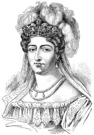 charlotte: Duchess of Angouleme, vintage engraved illustration. History of France – 1885.