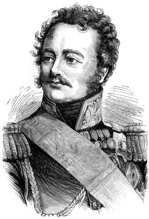 Paskiewitch, vintage engraved illustration. History of France – 1885. Stock Illustration - 39823594
