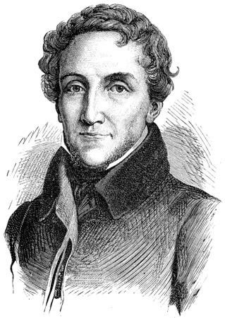statesman: Louis-Mathieu Mole, vintage engraved illustration. History of France – 1885.