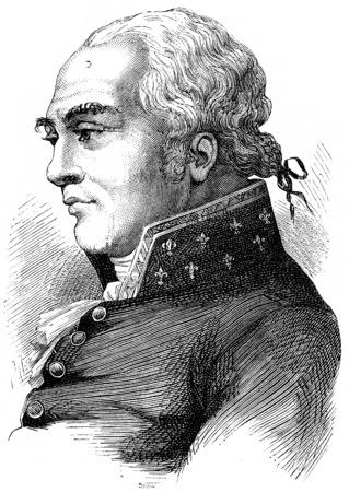 deputy: Duke of Mortemart, vintage engraved illustration. History of France – 1885