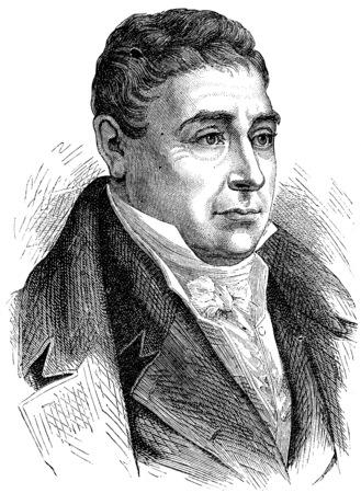 Marquis de Lafayette, vintage engraved illustration. History of France – 1885.
