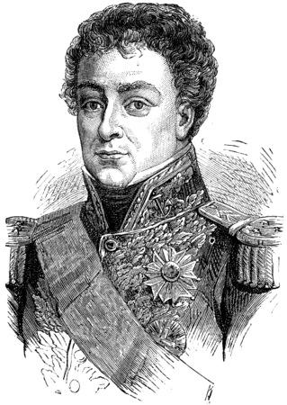 admiral: Duperre, vintage engraved illustration. History of France – 1885.