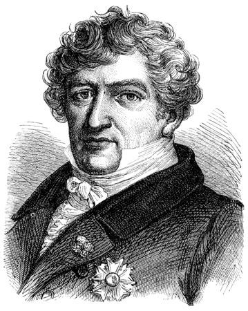 naturalist: Cuvier, vintage engraved illustration. History of France – 1885.
