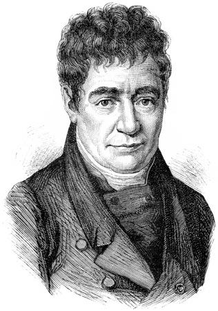 linguist: Silvestre de Sacy, vintage engraved illustration. History of France – 1885.
