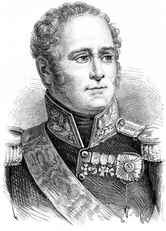 Alexander I, vintage engraved illustration. History of France – 1885. Stock Photo