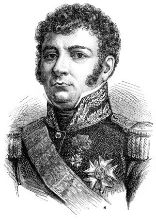 Vandamme, vintage engraved illustration. History of France – 1885.