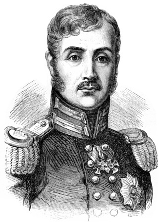 Frederick William III, vintage engraved illustration. History of France – 1885. Stock Photo