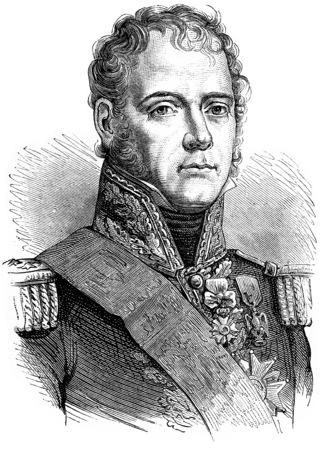 michel: Ney, vintage engraved illustration. History of France – 1885.