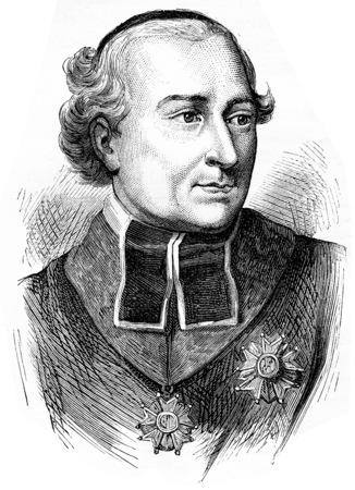 Cardinal Fesch, vintage engraved illustration. History of France – 1885.