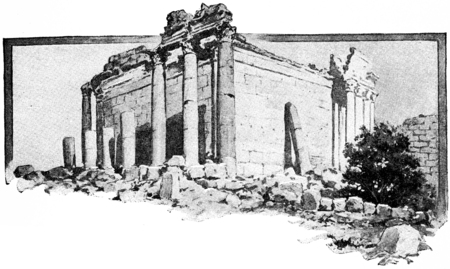 miles: Lovers of art travel thousands of miles to visit the ancient ruins of a long-buried city, vintage engraved illustration..