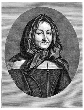 paul: Madame Miramion. Tire of Saint Vincent de Paul, vintage engraved illustration.