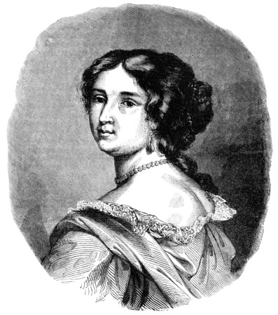 marquise: Madame de Maintenon, vintage engraved illustration. Stock Photo
