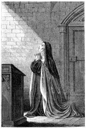incarnation: Mrs. Acarie Carmelite nun, vintage engraved illustration. Stock Photo
