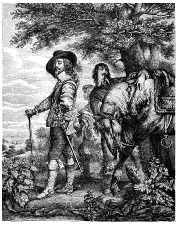 Charles I, vintage engraved illustration. illustration