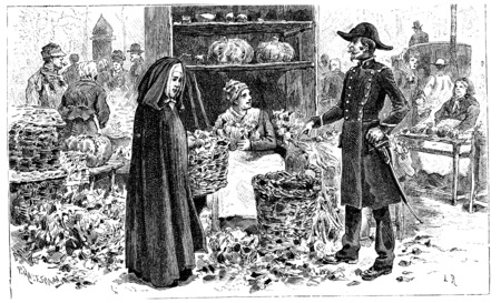 But, said the good woman, Little Sister does not beg, vintage engraved illustration. Stok Fotoğraf