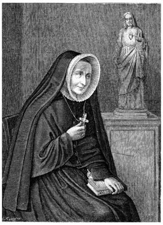 ms: Ms. Barat, vintage engraved illustration.