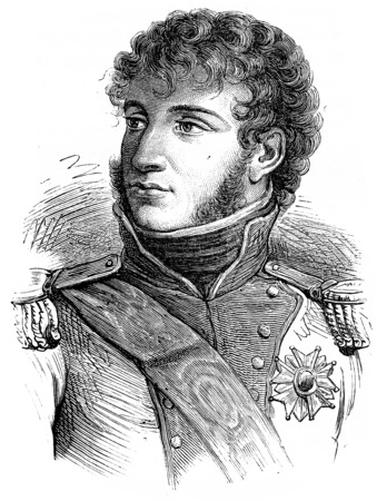 Murat, vintage engraved illustration. History of France – 1885.