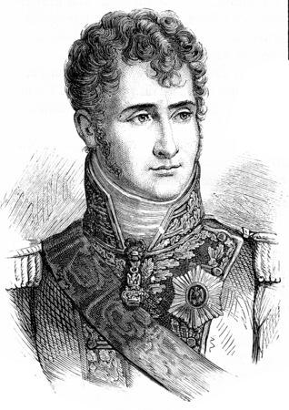Jerome Bonaparte, vintage engraved illustration. History of France – 1885.